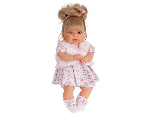 Кукла Munecas Antonio Juan Лучия в розовом 37 см мягкая говорящая смеющаяся 1557Р