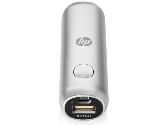Портативное зарядное устройство HP M1U00AA 2600 mAh серебристый
