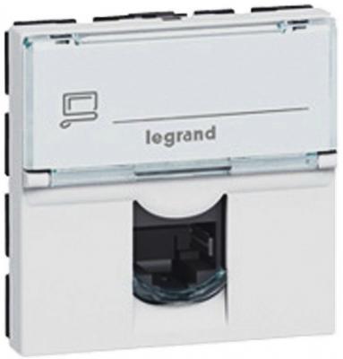 Розетка Legrand Mosaic RJ-45 FTP кат.5e 2 модуля 76555