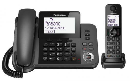 Фото Радиотелефон DECT Panasonic KX-TGF320RUM черный радиотелефон dect panasonic kx tgj320rub черный