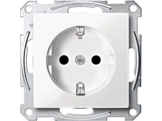 Фото - Розетка Schneider Electric со шторками белый MTN2300-0319 розетка schneider electric merten system m с з и шторками mtn2300 0319