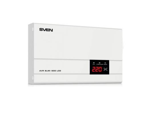 все цены на Стабилизатор напряжения SVEN AVR SLIM-500 LCD онлайн