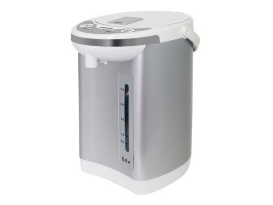 Чайник-термос Mystery MTP-2451 700Вт 5л серебристо-белый
