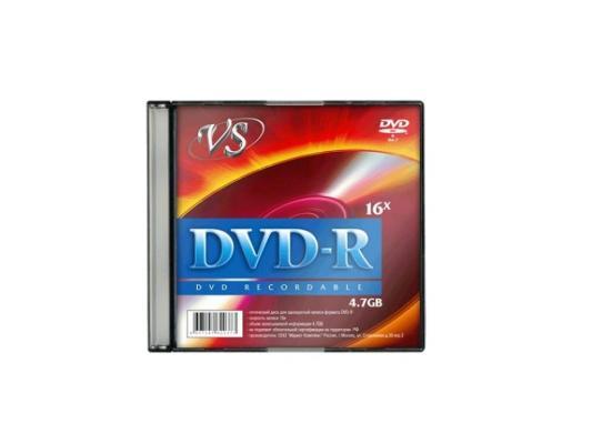 Диски DVD-R VS 16х 4.7Gb Slim VSDVDRSL501 1шт