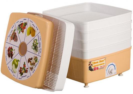 Сушилка для овощей и фруктов Великие Реки Ротор-Дива-Люкс СШ-010 5 поддонов