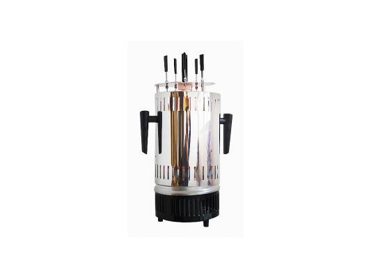 Электрошашлычница KITFORT KT-1405 серебристый чёрный элеktрогриль kitfort kt 1601 серебристый чёрный