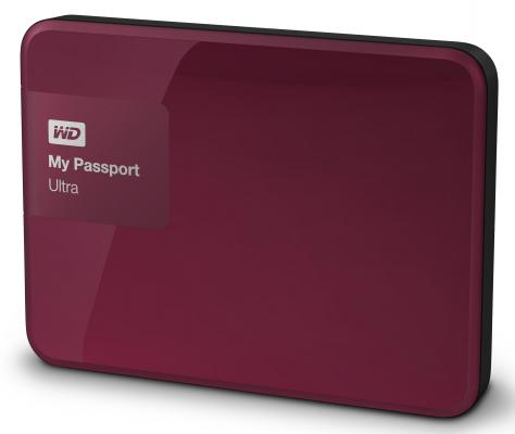 Внешний жесткий диск 2.5 USB3.0 1 Tb Western Digital My Passport Ultra WDBDDE0010BBY-EEUE красный