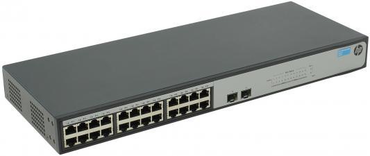 Коммутатор HP 1420-24G-2SFP управляемый 24 порта 10/100/1000Mbps 2xSFP JH017A