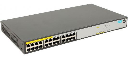 Коммутатор HP 1420-24G-PoE+ управляемый 24 порта 10/100/1000Mbps 2xSFP JH019A коммутатор hp e1910 8 poe управляемый 8 портов 10 100mbps poe jg537a