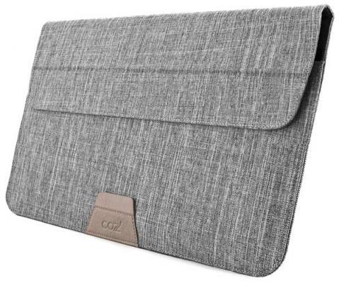 Чехол для ноутбука 12 Cozi Stand Sleeve Compatibility серый CPSS1104