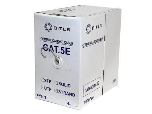 Кабель UTP outdoor 4 пары категория 5e 5bites UT5725-305A многожильный 24AWG CCA PVC 305м