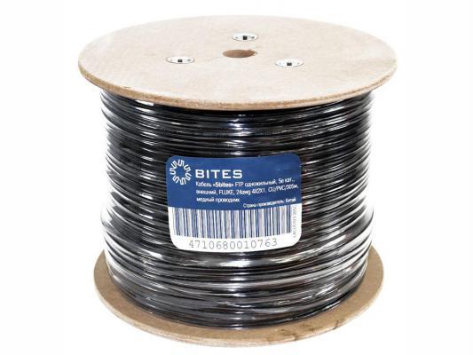 Кабель FTP outdoor 4 пары категория 5e 5bites FS5505-305CE одножильный 24AWG PE PVC 305m сетевой кабель 5bites ftp solid 5e 24awg copper pe outdoor messenger drum 305m black fs5505 305ce m