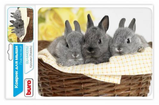 Картинка для Коврик для мыши Buro BU-M40092 с рисунком кролики