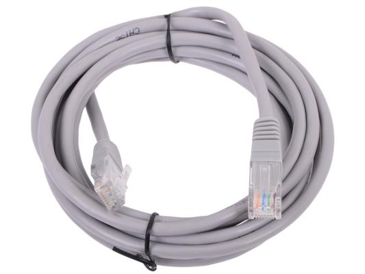 Патч-корд UTP 5е категории Telecom 3м литой серый NA102 6242755307308