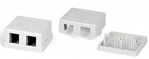 Корпус настенной розетки ITK для установки двух модулей KJ белый CS2-022