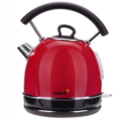 цена на Чайник Unit UEK-261 2000 Вт красный 1.7 л нержавеющая сталь