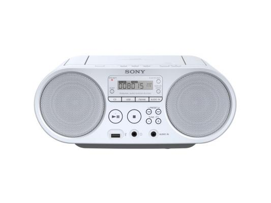 Магнитола Sony ZS-PS50W белый магнитола sony zs rs60bt