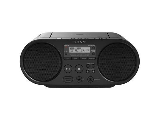 Фото - Аудиомагнитола Sony ZS-PS50BC Black CD-магнитола, мощность звука 4 Вт, MP3, тюнер AM, FM, воспроизведение с USB-флэшек 4 in 1 0 6 lcd car mp3 player fm transmitter w 3 5mm audio plug black dc 12v 63cm cable