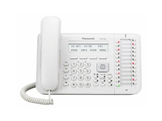 Системный телефон Panasonic KX-DT543RU белый системный телефон panasonic kx t7735ru белый
