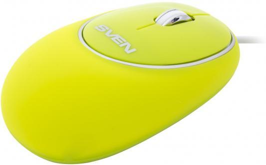 Мышь проводная Sven RX-555 Antistress Silent зелёный USB цена 2017