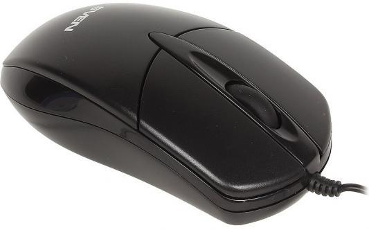Мышь проводная Sven RX-112 чёрный USB + PS/2