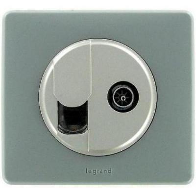Лицевая панель Legrand Celiane для розетки телефонной RJ+ТV 64934