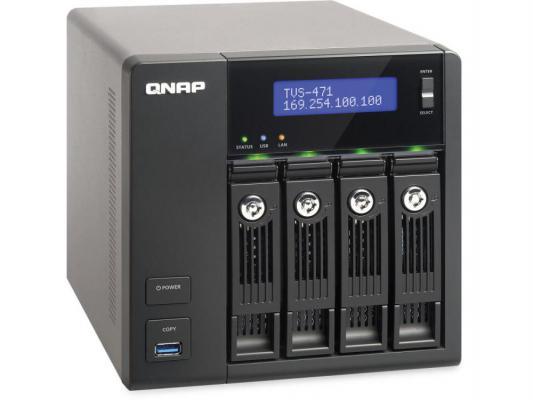 """Сетевое хранилище QNAP TVS-471-i3-4G i3-4150 3.5ГГц 4x3.5/2.5""""HDD hot swap 1xHDMI"""