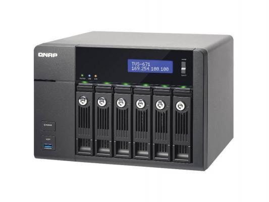 """Сетевое хранилище QNAP TVS-671-i3-4G i3-4150 3.5ГГц 6x3.5/2.5""""HDD hot swap 1xHDMI"""
