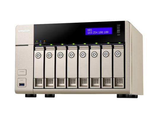 "Сетевое хранилище QNAP TVS-863-8G AMD 2.4ГГц 8x2.5""/3.5""HDD hot swap RAID 0/1/5/6/10 2xGbLAN 5xUSB 1xHDMI"