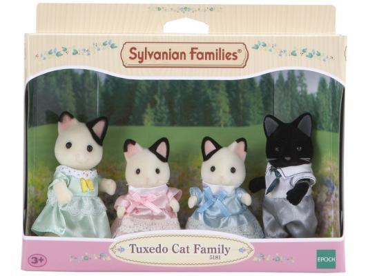 Игровой набор Sylvanian Families Семья черно-белых котов от 3 лет 4 предмета 5181