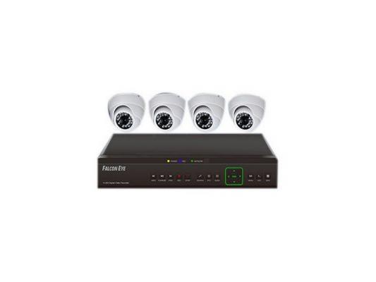 Комплект видеонаблюдения Falcon Eye FE-104AHD-KIT Дом 4 уличные камеры 4-х канальный видеорегистратор установочный комплект