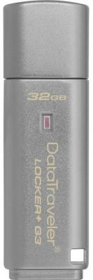 Флешка USB 32Gb Kingston DataTraveler LPG2 DTLPG3/32GB серебристый usb flash drive 8gb kingston datatraveler locker g3 dtlpg3 8gb