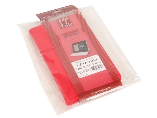 Чехол IT BAGGAGE для планшета LENOVO Idea Tab 2 A7-30 hard case  красный ITLNA7302-3