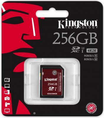 Карта памяти SDXC 256GB Class 10 Kingston SDA3/256GB