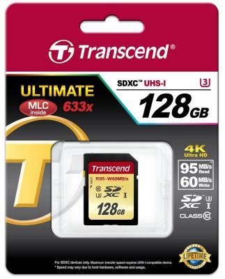 Карта памяти SDXC 128GB Class 10 Transcend TS128GSDU3