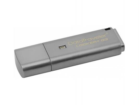 Флешка USB 8Gb Kingston DataTraveler Locker G3 DTLPG3/8GB серебристый usb flash drive 8gb kingston datatraveler locker g3 dtlpg3 8gb