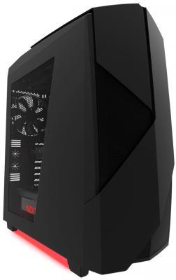 Корпус ATX NZXT Noctis 450 Без БП чёрный красный