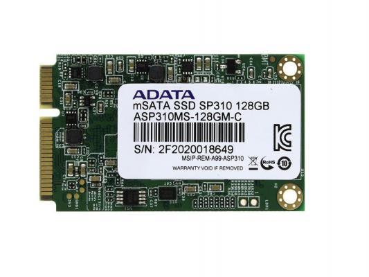 SSD Твердотельный накопитель mSATA 128GB A-Data SP310 Read 540Mb/s Write 200Mb/s ASP310S3-128GM-C