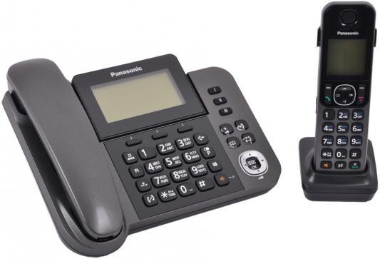 Радиотелефон DECT Panasonic KX-TGF310RUM серый металлик радиотелефон dect panasonic kx tgf310rum серый металлик