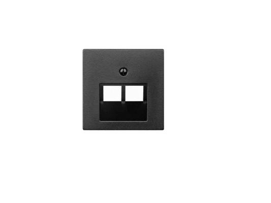 Накладка для розетки МЕХ-МОВ 2хRJ45 антрацит Schneider Electric MTN298014