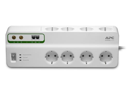 Сетевой фильтр APC PMF83VT-RS белый 8 розеток 3 м цена и фото