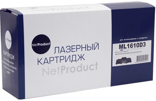 Картридж NetProduct ML-1610D3 ML-1610D3 для для Samsung ML-1610/2010/2015/Xerox Ph 3117/3122/SCX4521 3000стр Черный
