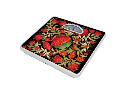Весы напольные Supra BSS-4061 Kalinka красный рисунок весы supra bss 4061 до 130кг цвет белый рисунок [6607]