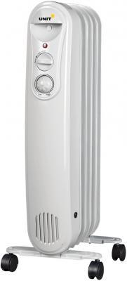 Масляный радиатор Unit UOR-515 1000 Вт белый масляный радиатор unit uor 940 2000 вт белый