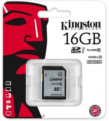 Карта памяти SDHC 16GB Class 10 Kingston UHS-1 SD10VG2/16GB карта памяти kingston 128gb sdhc class 10 sd10vg2 128gb sd10vg2 128gb