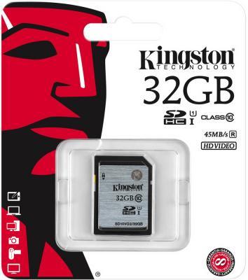 Карта памяти SDHC 32GB Class 10 Kingston UHS-1 SD10VG2/32GB карта памяти kingston 128gb sdhc class 10 sd10vg2 128gb sd10vg2 128gb