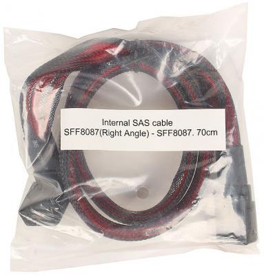 Кабель интерфейсный SAS SFF8087 угловой - SFF8087 прямой 0.7м SATA36361L12272 цена и фото