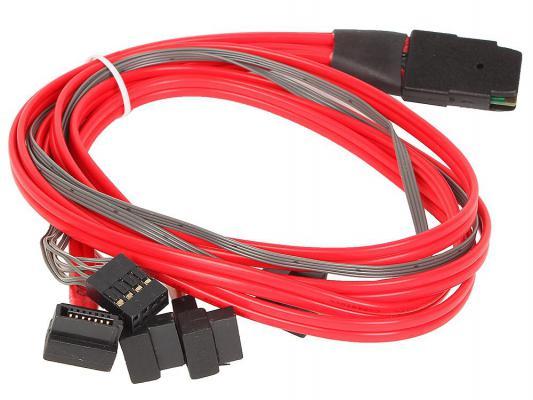 Кабель интерфейсный SAS SFF8087 - 4хSATA угловой+SB 0.5м MS36-4SATAU8P-050B-S