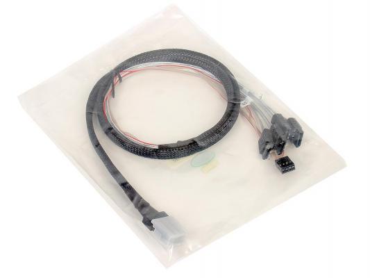 Кабель интерфейсный SAS SFF8087 - 4хSATA прямой+SB 1м MSCB87-4C-8P-1M