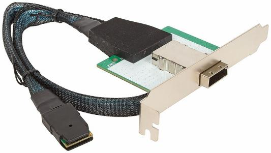 Кабель-переходник SAS Int/Ext 4 порта SFF8087(32pin) - SFF8088(32pin) 0.5м Y23-MSAS-037-1 цена
